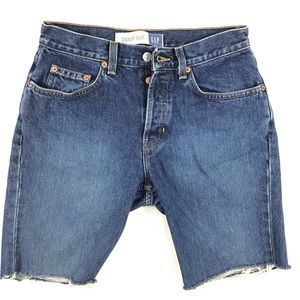 Vintage button fly Gap cut off denim shorts jean 6